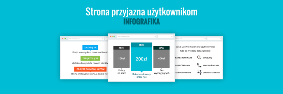Strona przyjazna użytkownikom - infografika