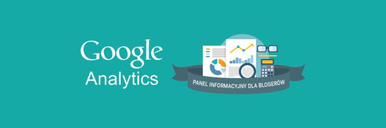 Panel informacyjny Analytics dla blogerów