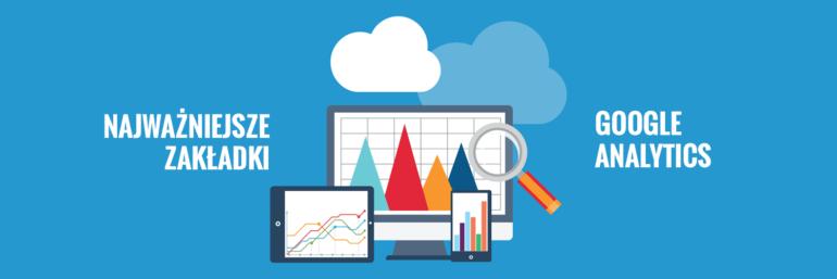 Najważniejsze zakładki w Google Analytics