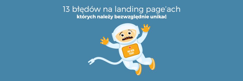 13 błędów landing page