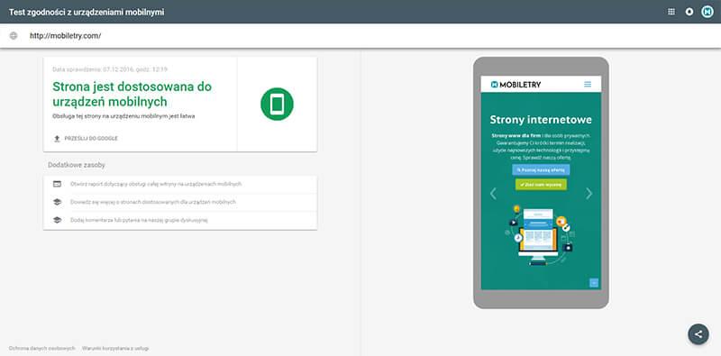 Test zgodności z urządzeniami mobilnymi - narzędzia do testowania prędkości strony