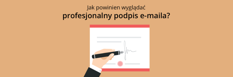 Jak powinien wyglądać profesjonalny podpis e-maila?
