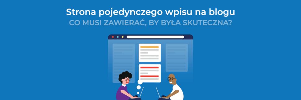 Strona pojedynczego wpisu na blogu