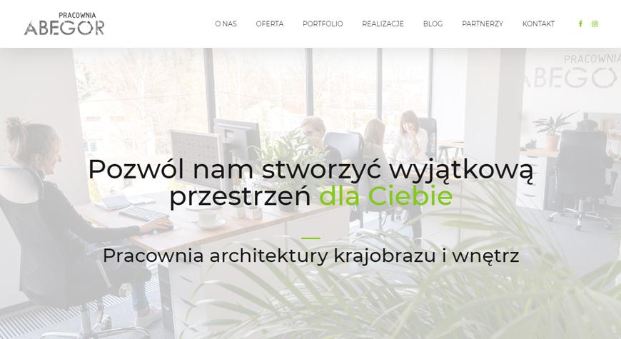 Pracownia ABEGOR strona internetowa #1