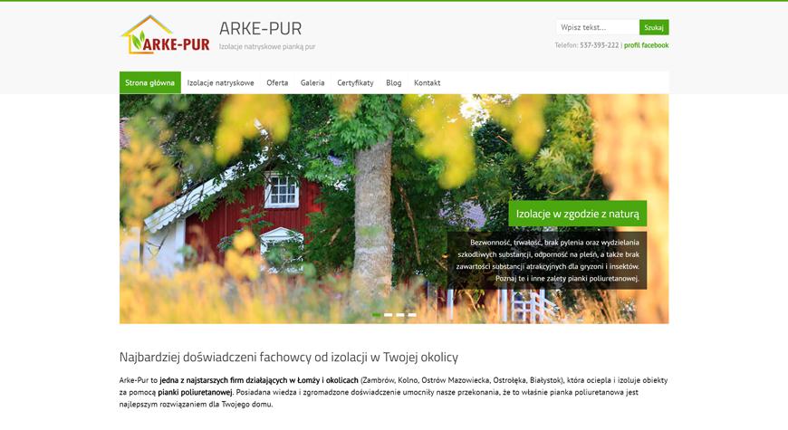 Arke-Pur strona internetowa #1