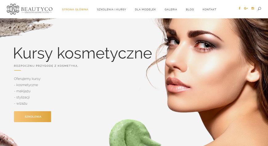 Beautyco - szkolenia kosmetyczne strona internetowa #1