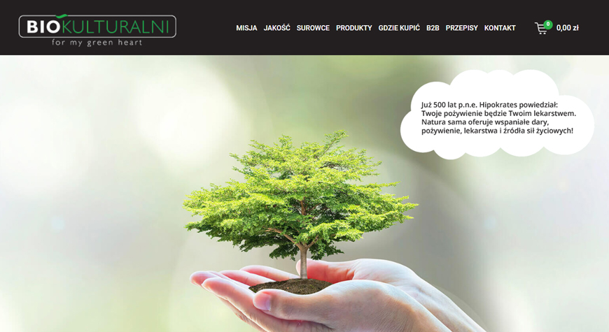 Biokulturalni sklep internetowy #1