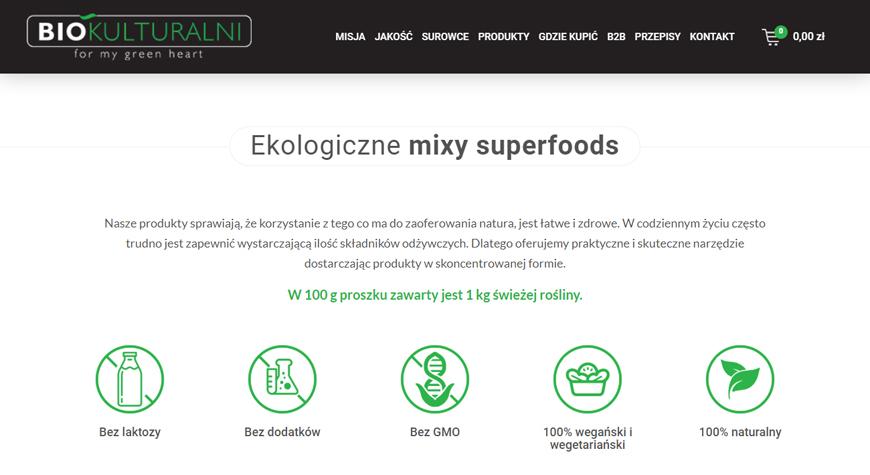 Biokulturalni sklep internetowy #2