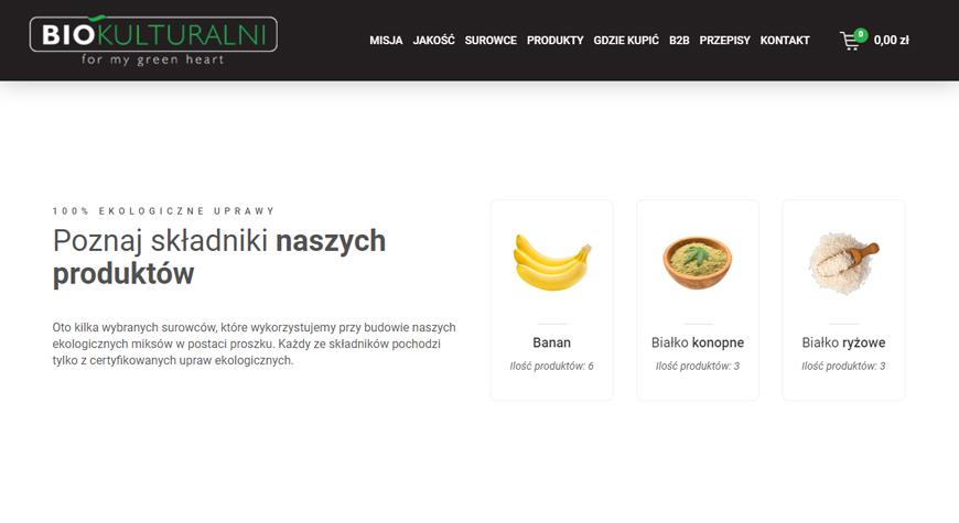 Biokulturalni sklep internetowy #3