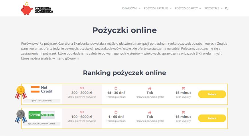 Czerwona Skarbonka strona internetowa