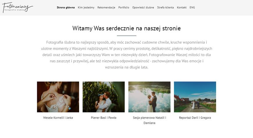 Fotomaniacy strona internetowa #2