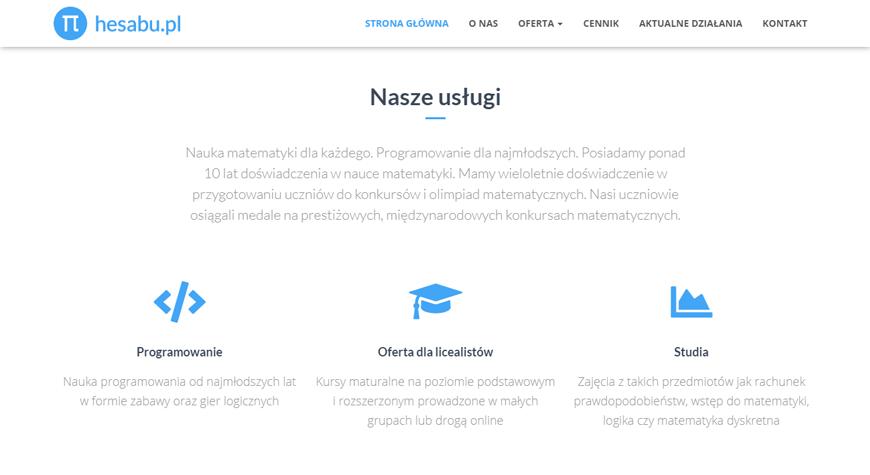 Hesabu strona internetowa #2