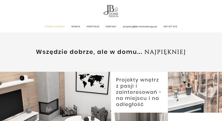 JB Home Design strona internetowa #1