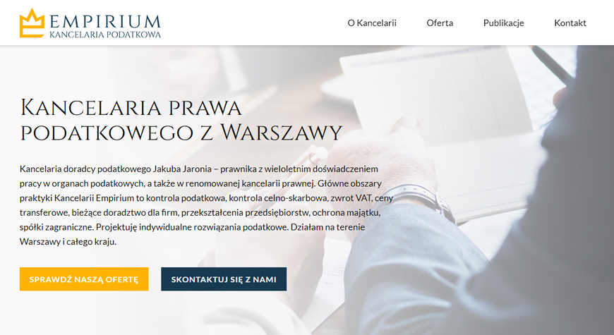 Kancelaria podatkowa Empirium strona internetowa #1