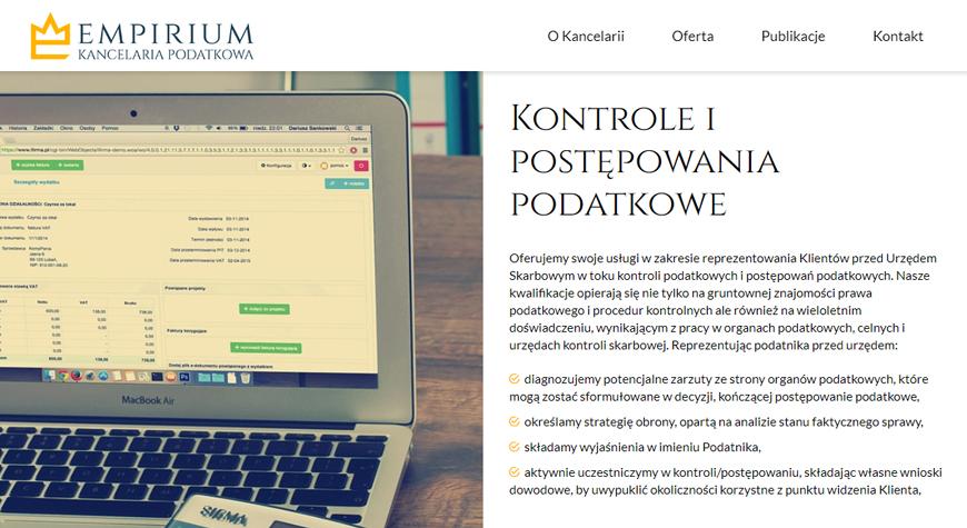 Kancelaria podatkowa Empirium strona internetowa #3