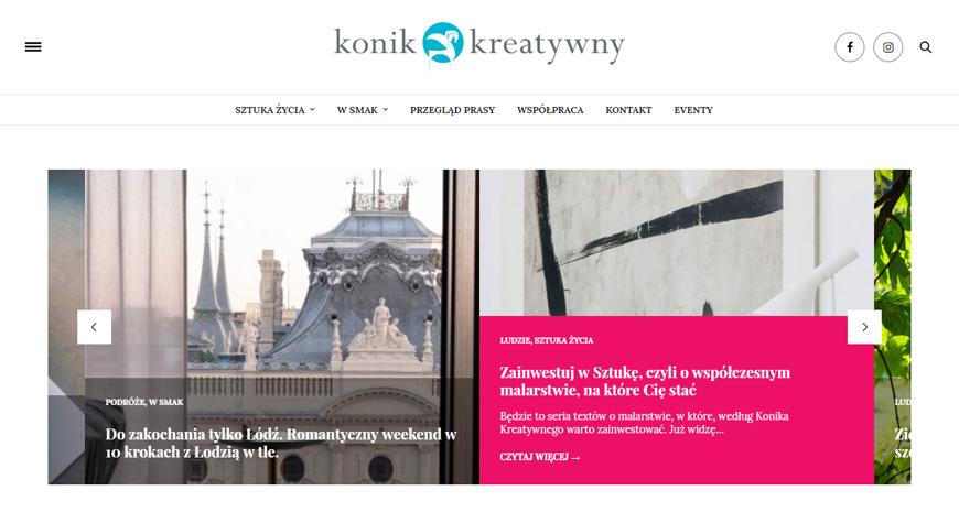 KoniKreatywny strona internetowa #1