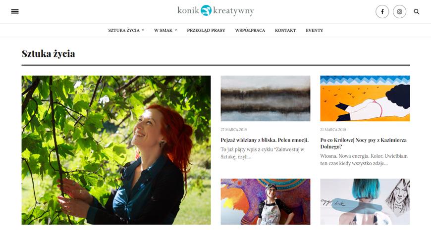 KoniKreatywny strona internetowa #2