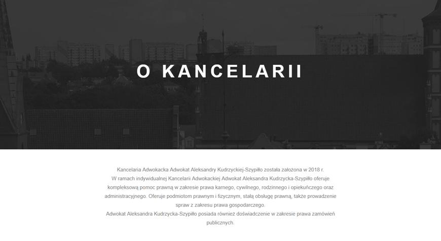 Kancelaria adwokacka Aleksandra Kudrzycka strona internetowa #2