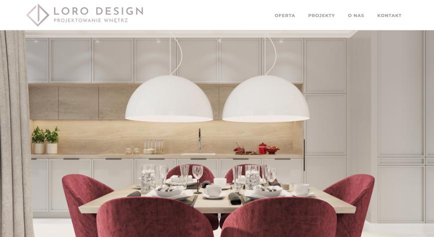 LORO Design strona internetowa #1
