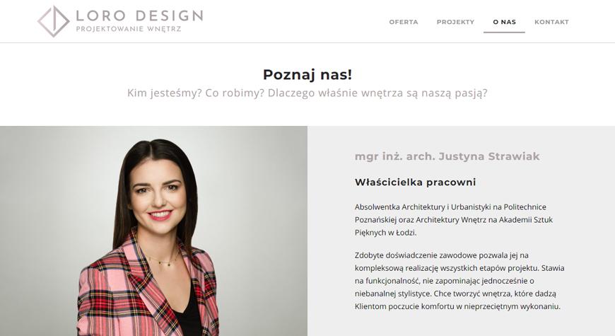 LORO Design strona internetowa #2