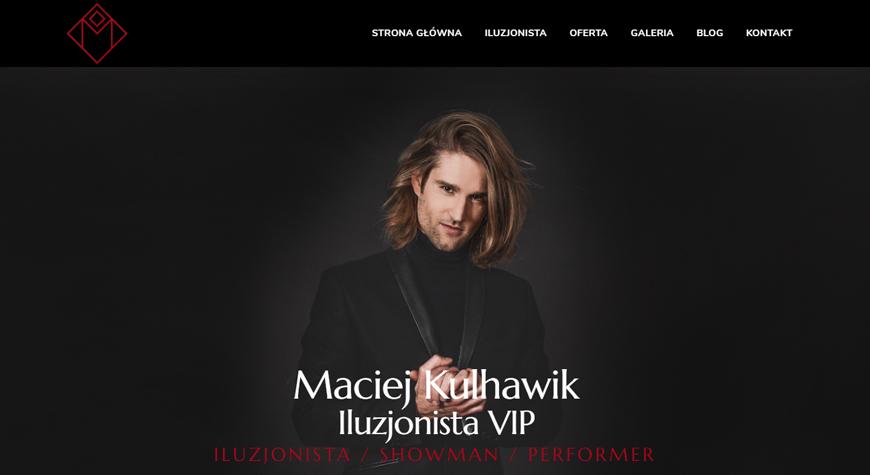 Maciej Kulhawik strona internetowa #1