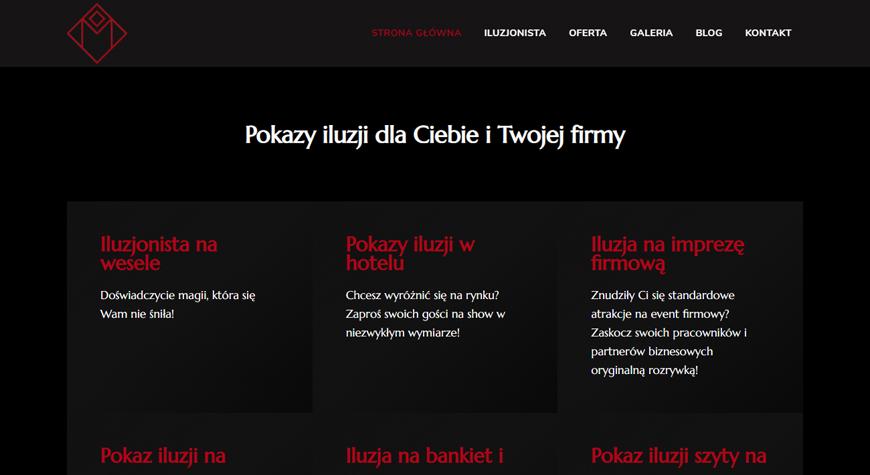 Maciej Kulhawik strona internetowa #2