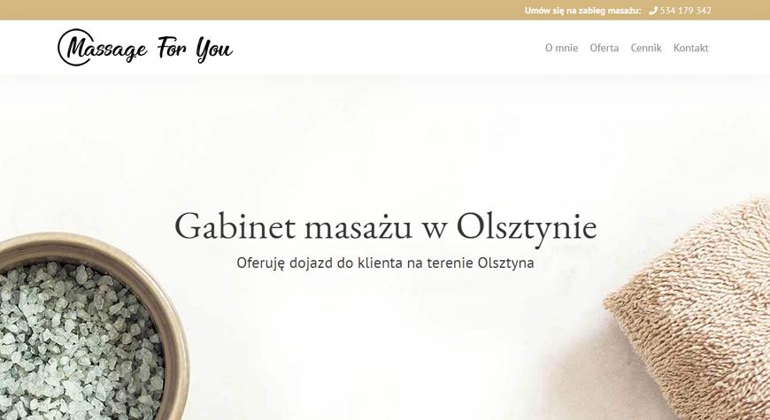 Massage For You strona internetowa #1