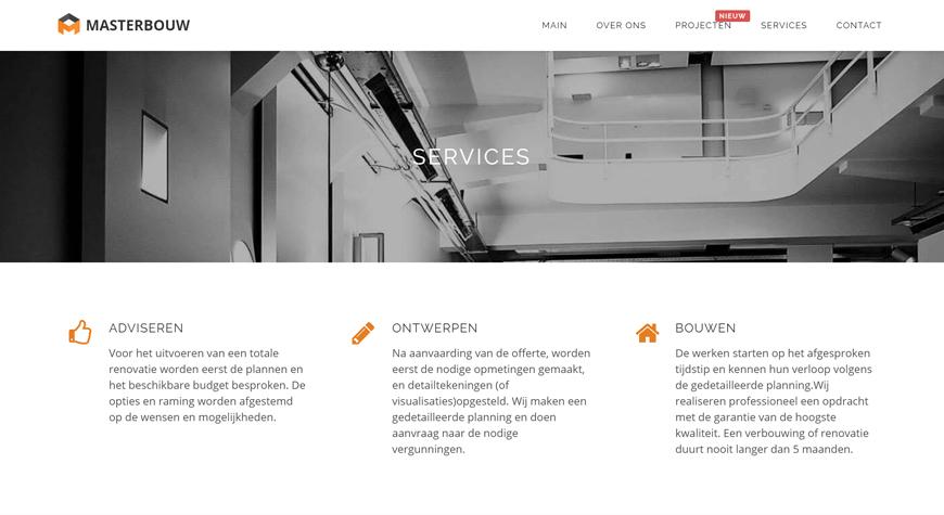 Masterbouw strona internetowa #2