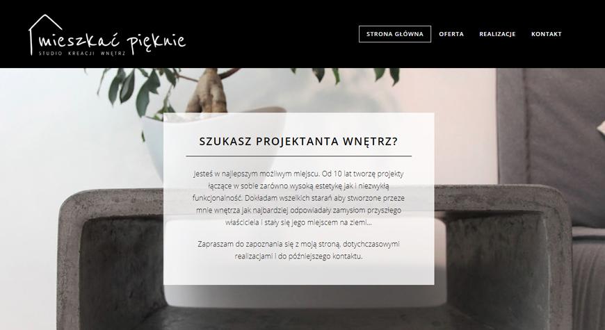 Mieszkać Pięknie strona internetowa #1