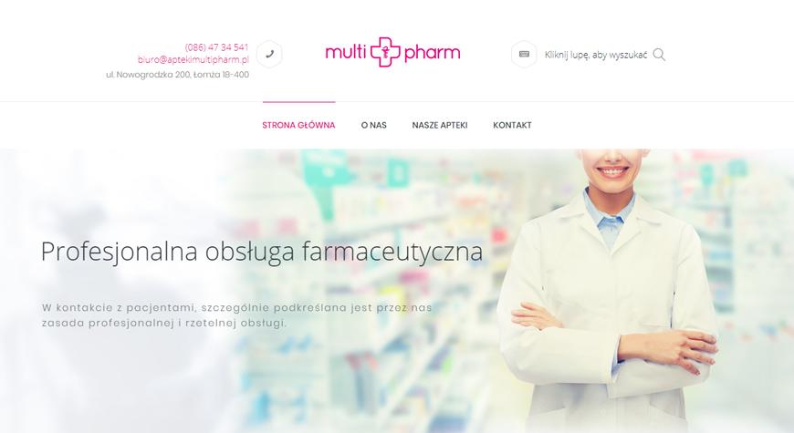 MultiPharm strona internetowa #1