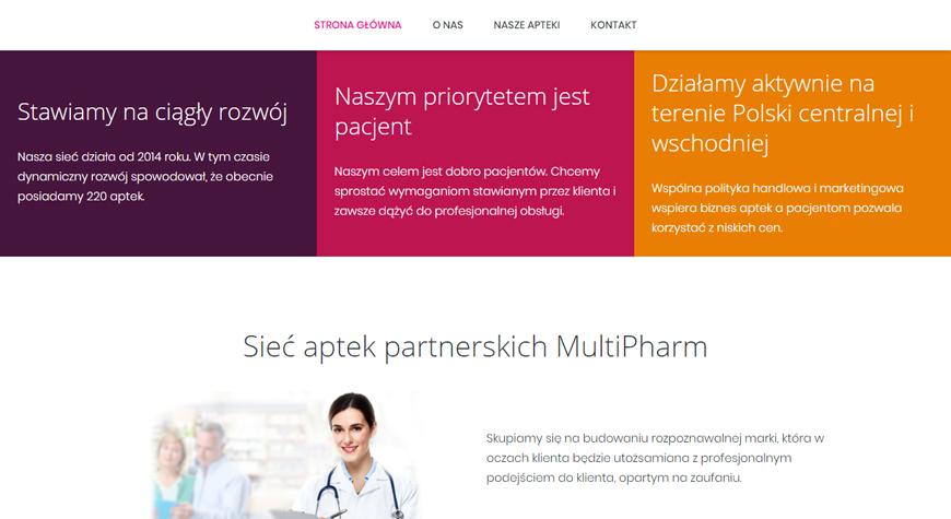 MultiPharm strona internetowa #2