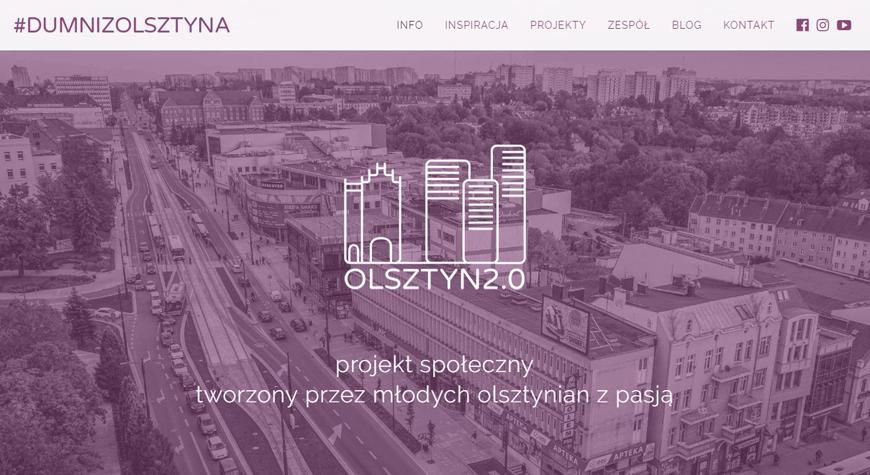Olsztyn 2.0 - Dumni z Olsztyna strona internetowa #1
