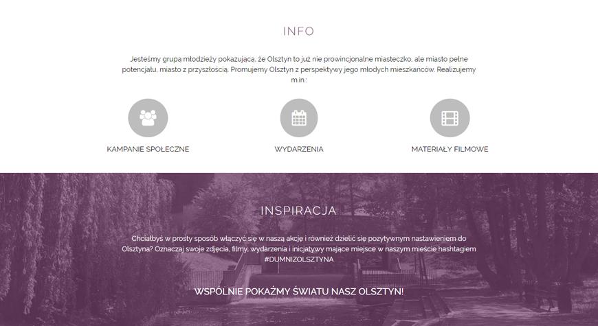 Olsztyn 2.0 - Dumni z Olsztyna strona internetowa #2