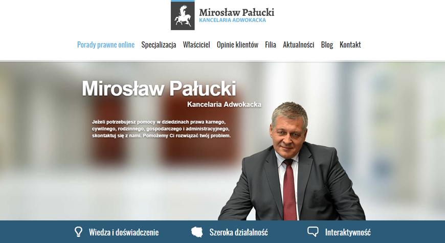 Kancelaria adwokacka Mirosław Pałucki strona internetowa #1