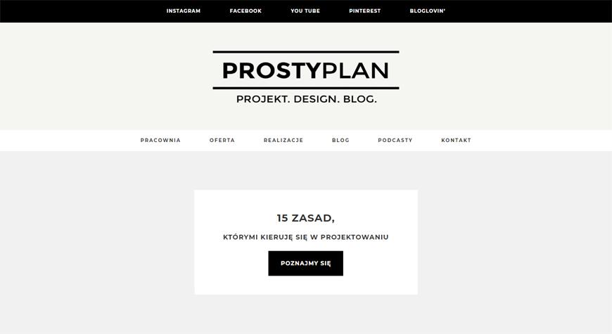 Prosty Plan strona internetowa #1