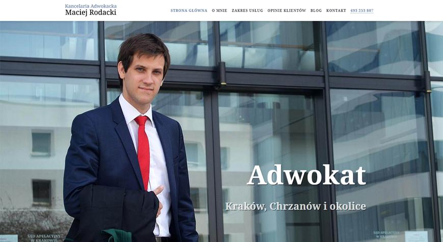 Kancelaria adwokacka Maciej Rodacki strona internetowa #1