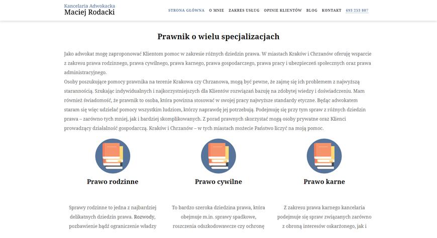 Kancelaria adwokacka Maciej Rodacki strona internetowa #2