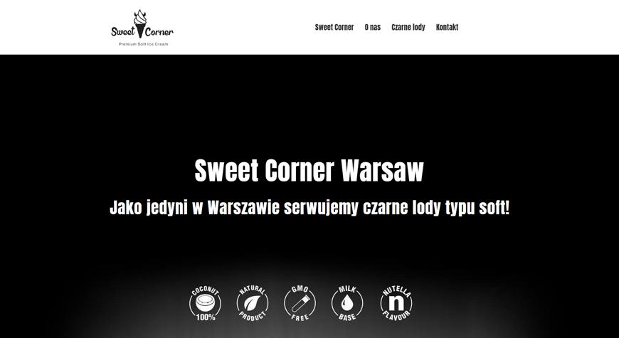 Sweet Corner strona internetowa #1