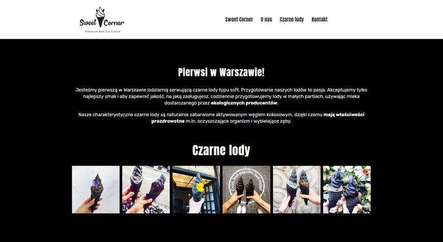 Sweet Corner strona internetowa #2