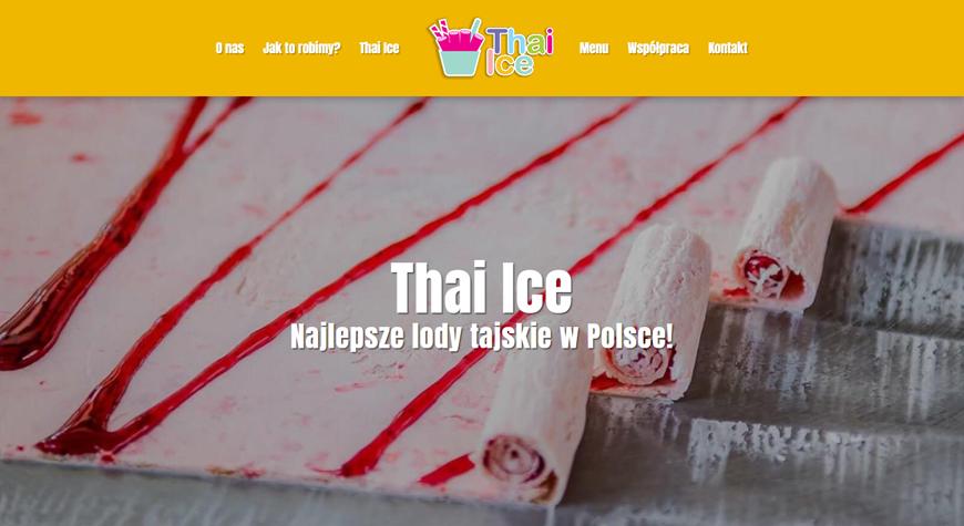 Thai Ice strona internetowa #1