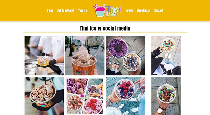 Thai Ice strona internetowa #2
