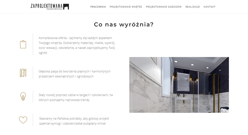 Zaprojektowana strona internetowa #2