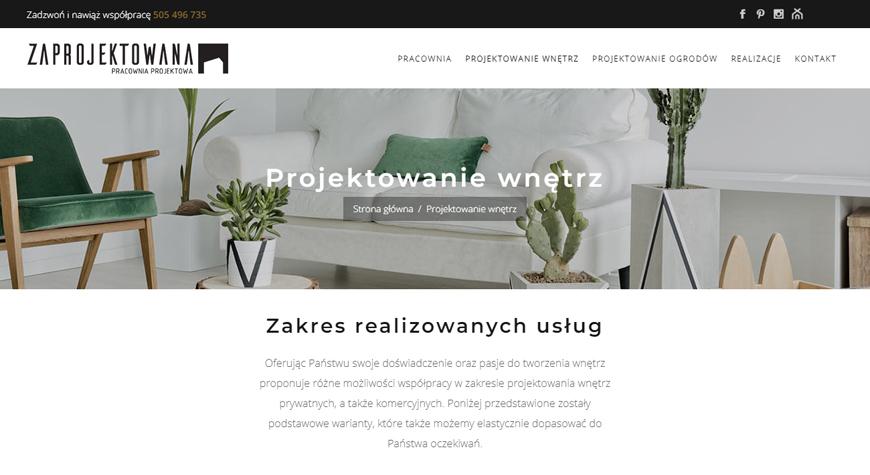 Zaprojektowana strona internetowa #3