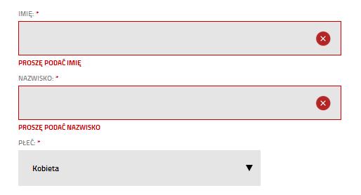 Optymalizacja procesu rejestracji - walidacja formularza