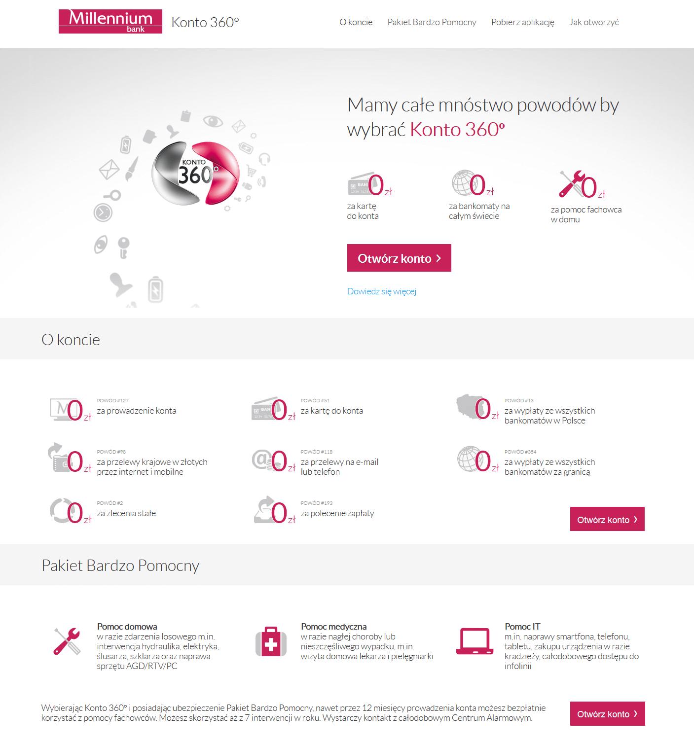 Przykład landing page