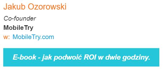 Sygnatura e-maila jako link do nowego e-booka