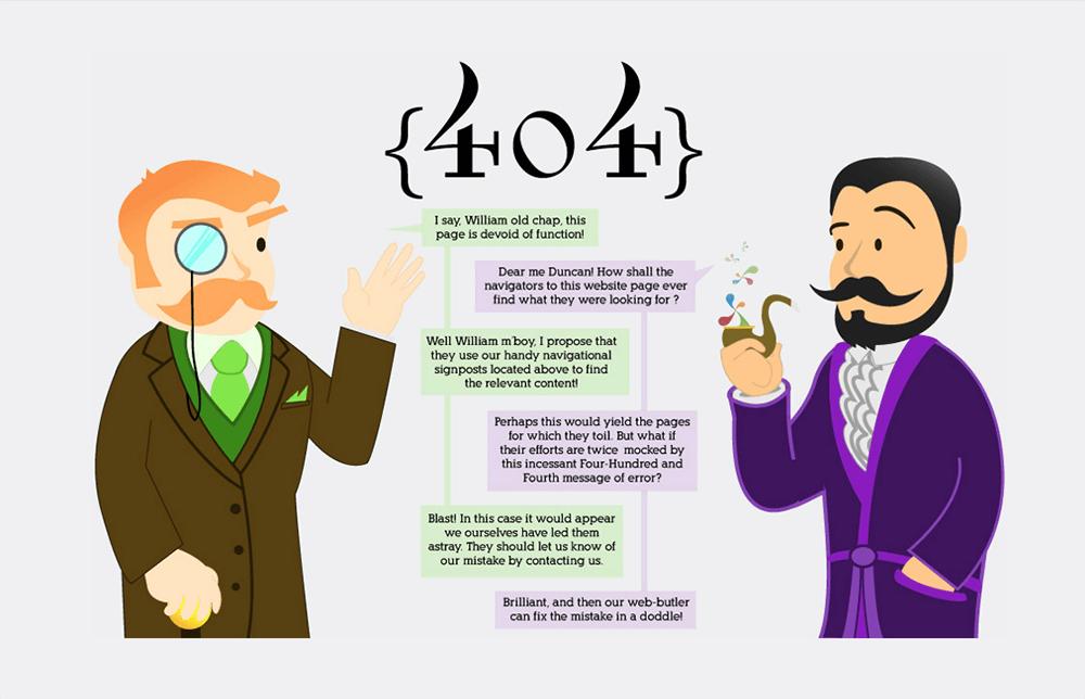 Nietuzinkowa strona błędu 404