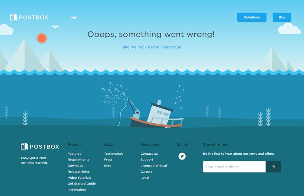 Atrakcyjna strona błędu 404
