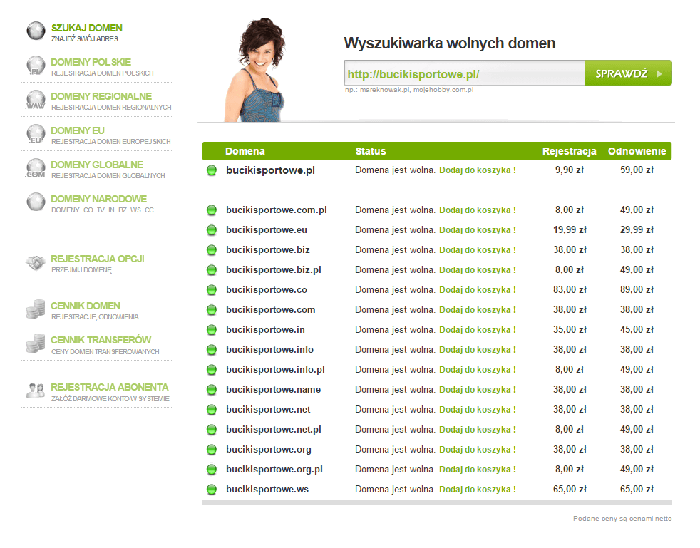 Nazwa bucikisportowe.pl
