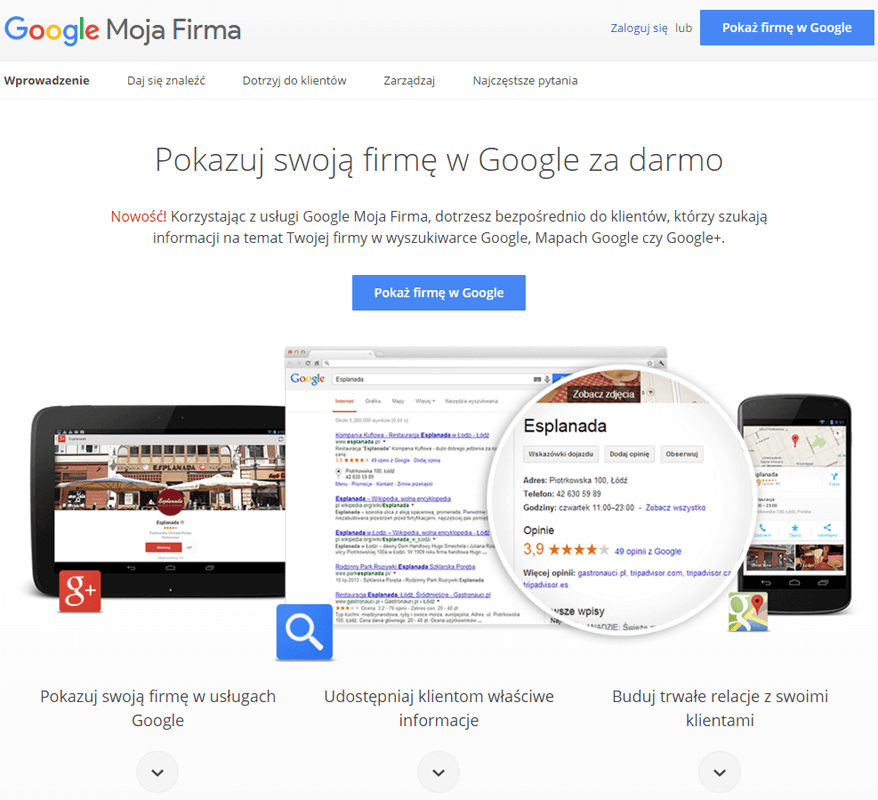 Co to jest Google Moja firma?